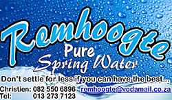 Remhoogte pure spring water