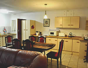 Self catering kitchen at Marina's Guest House close to Hendrina